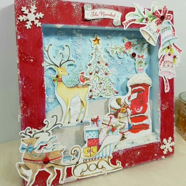 foto proyecto diorama de navidad