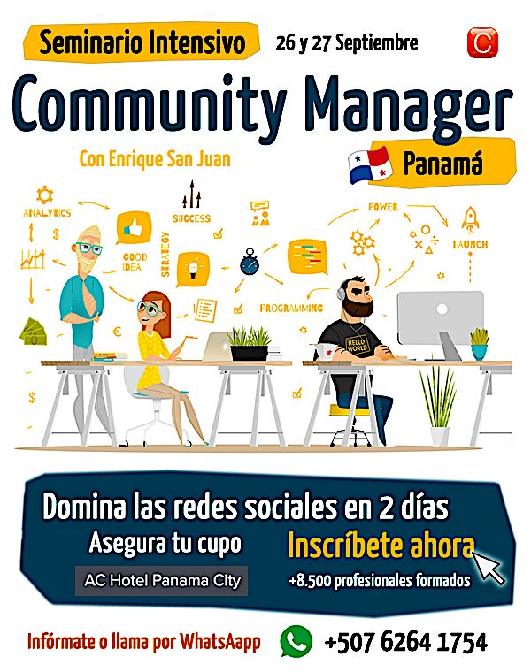 01 Community Manager Panama Community Internet con Enrique San Juan