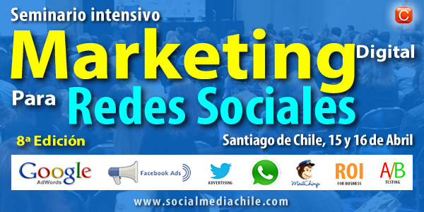 seminario marketing digital redes sociales chile community internet