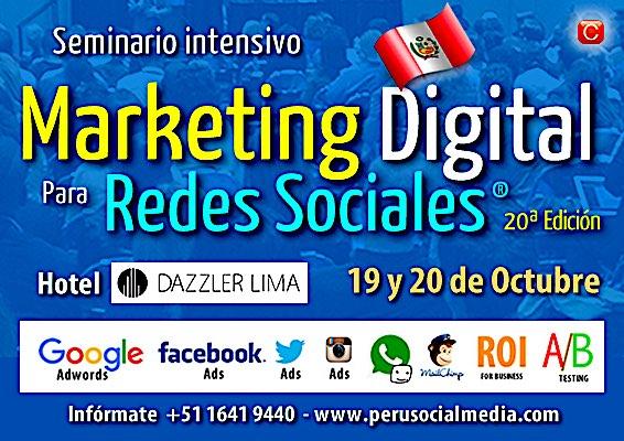 seminario marketing digital lima community internet enrique san juan