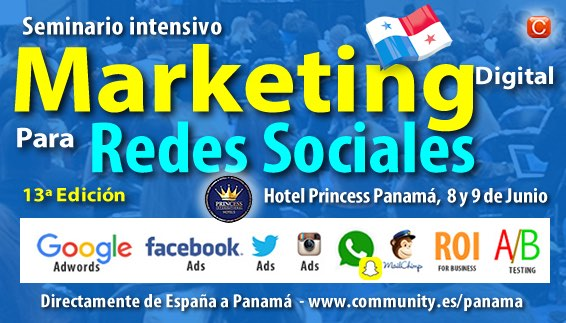seminario marketing digital panama community internet enrique san juan
