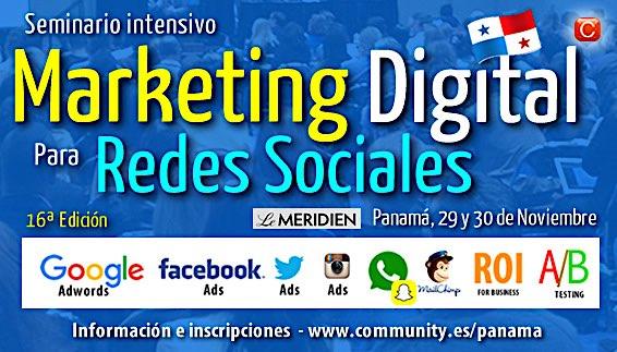 seminario marketing digital community panama nov 2016 16 edicion