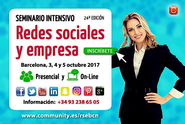 Seminario Redes Saociales y Empresa Barcelona 15 y 16 de noviembre