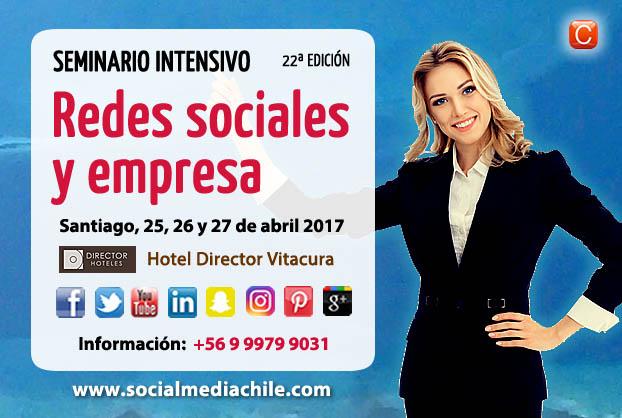 Seminario Redes Sociales y Empresa Chile abril 2017