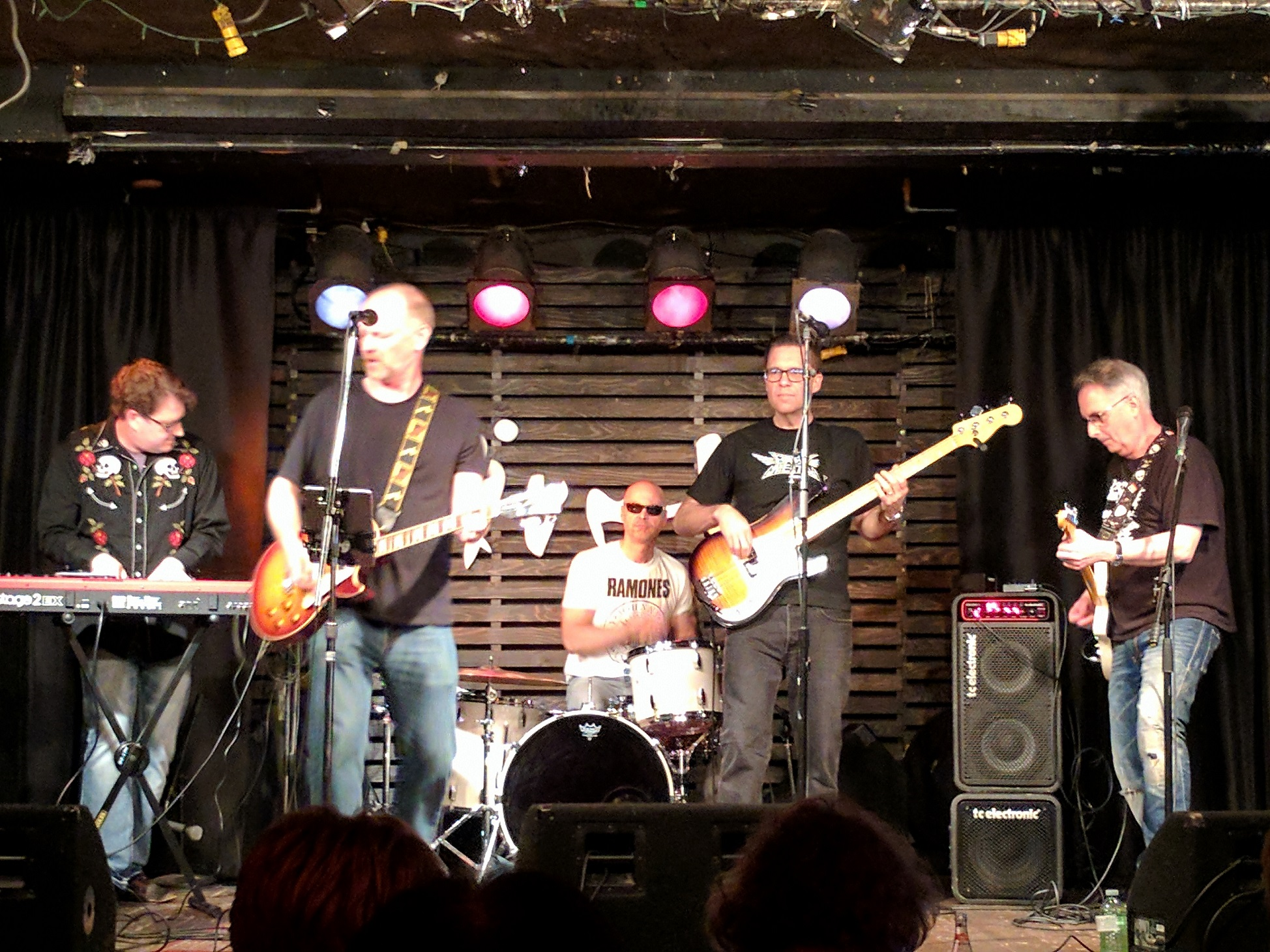 Reunited band of 1992 including members: Todd Lee, Mark Szabo, and John Fabello