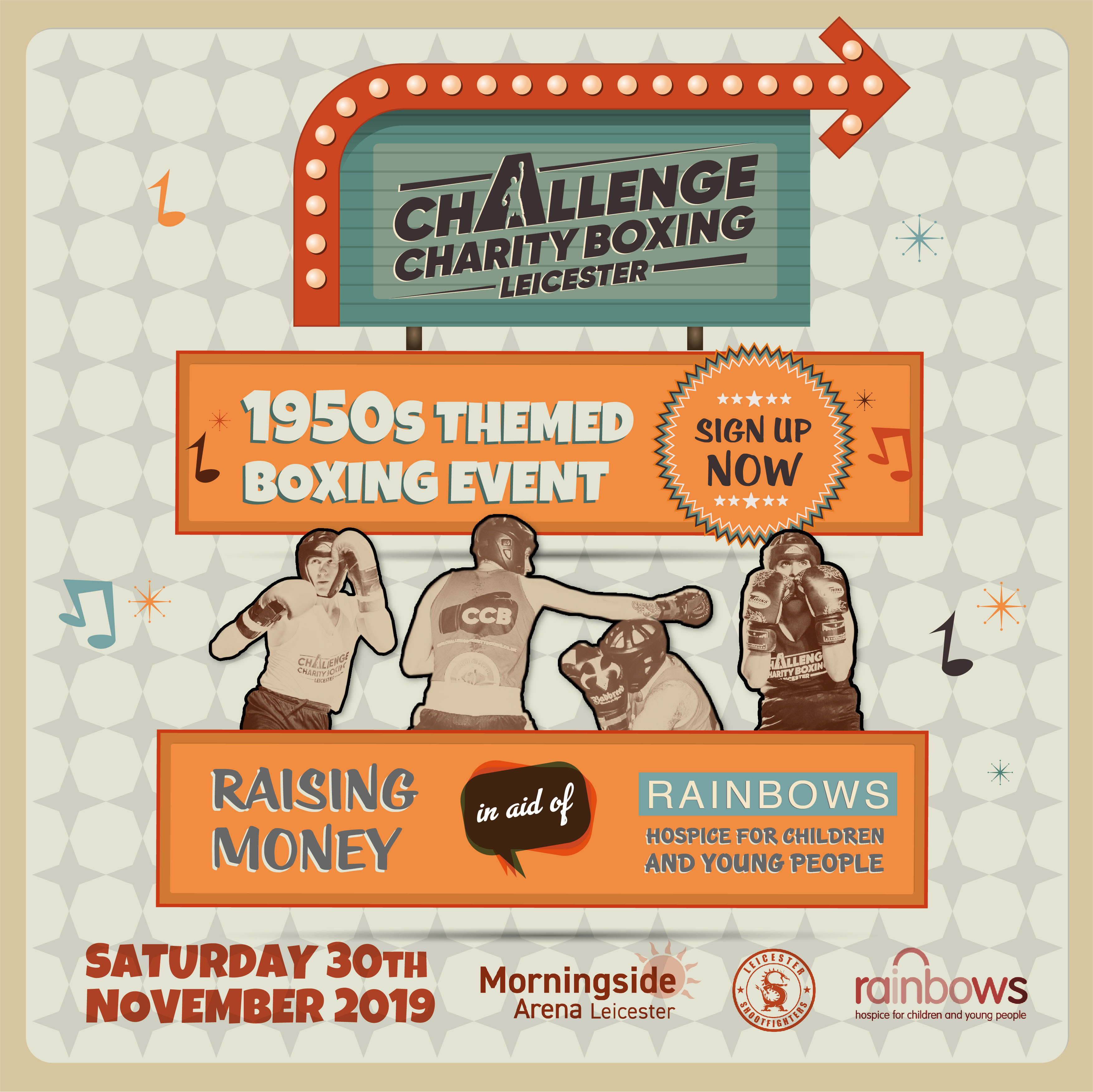 Challenge Charity Boxing Poster