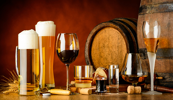 Beer and wine.