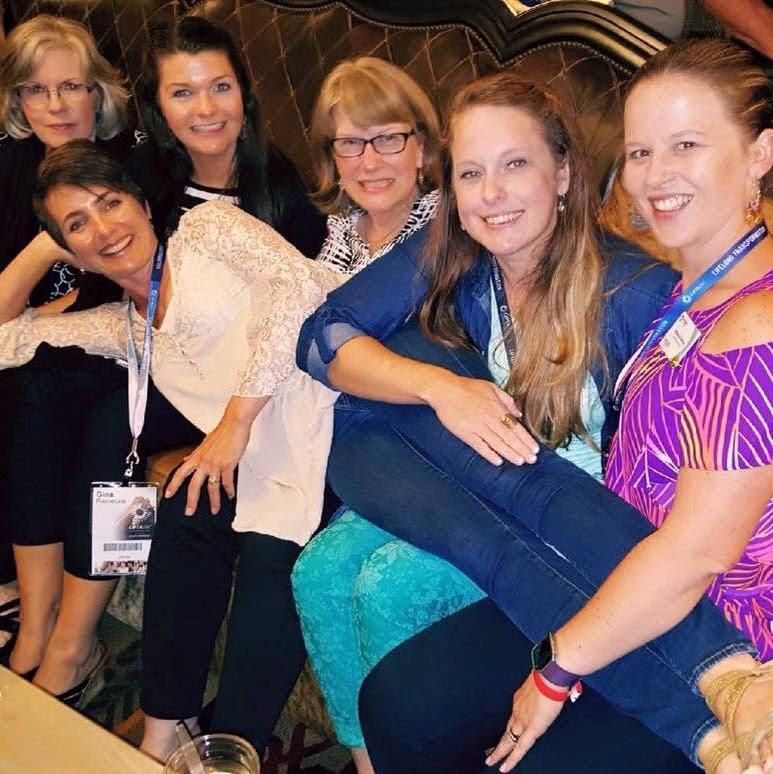Ginger Crocker, Meredith Crocker, Susan Waterbury, Joy Suarez, Rebecca Ramsey, Gina Reinecke (front)