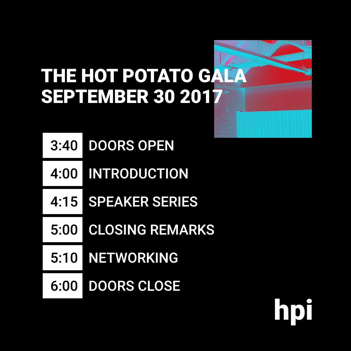 Gala Schedule