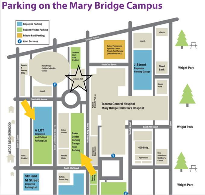 Mary Bridge Parking Map