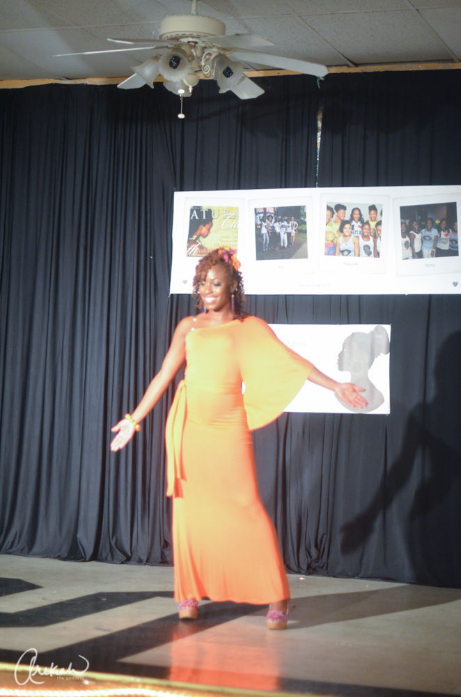 Tanisha Brimley strutting her stuff in the outfit of choice scene.