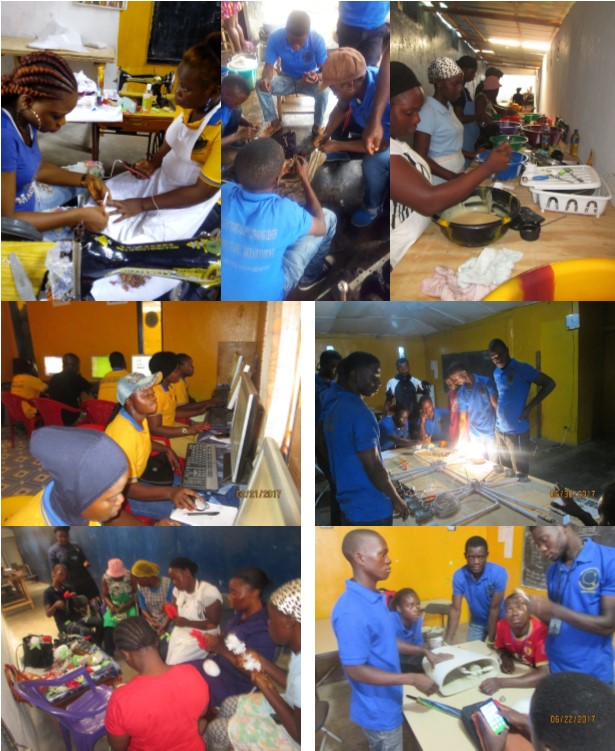 Photo collage of our vocational training courses