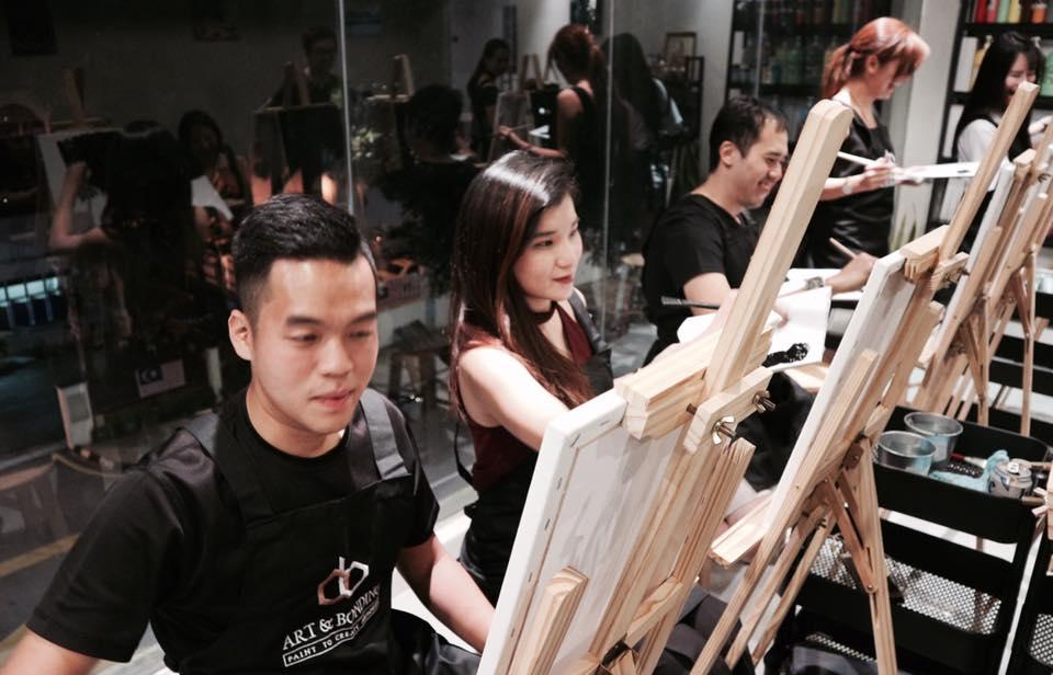 sip and paint night malaysia-artandbonding