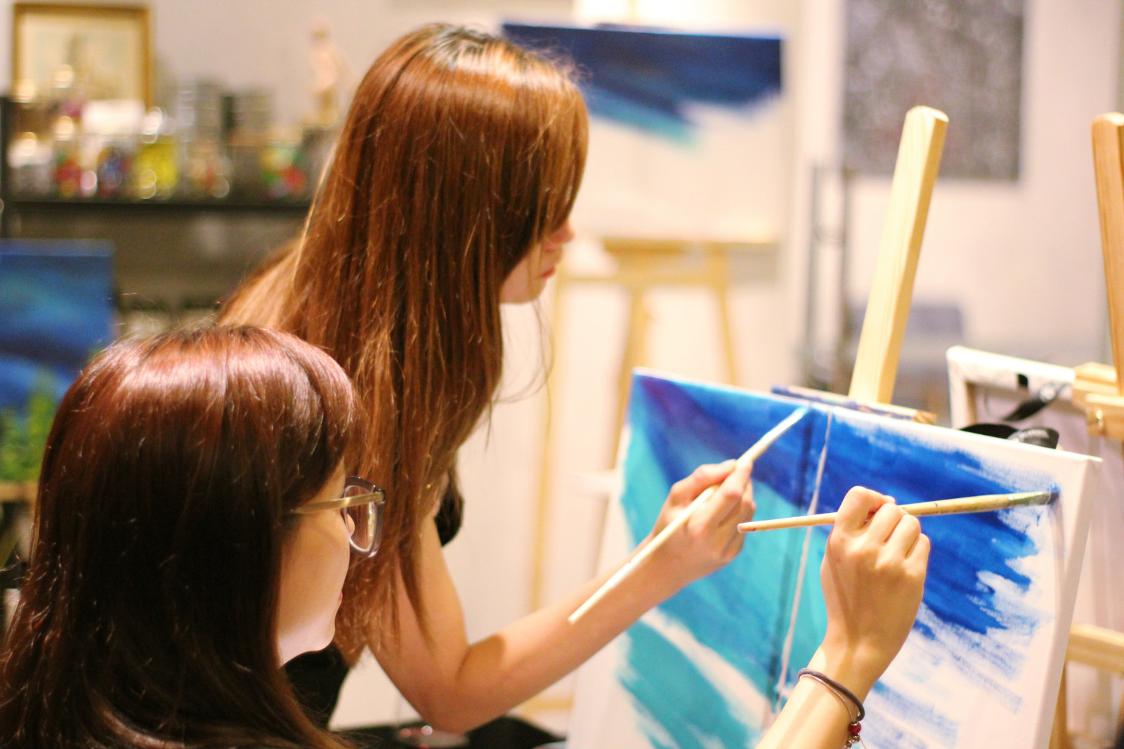 bff night out kl-sip and paint-artandbonding-paint night malaysia-kl