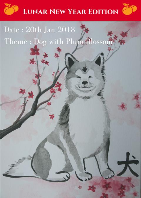 dog painting-canvas-cny painting-artandbonding-kl