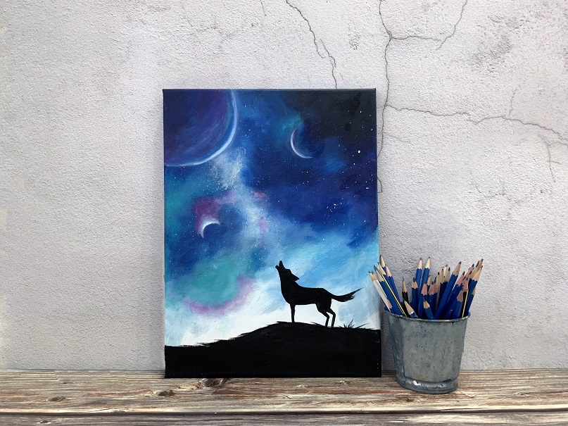 sip-paint-galaxy-wolf-painting-art-canvas-night-out-fun-wine-kl