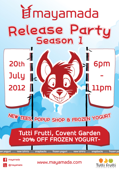 Release party at Tutti Frutti, Covent Garden