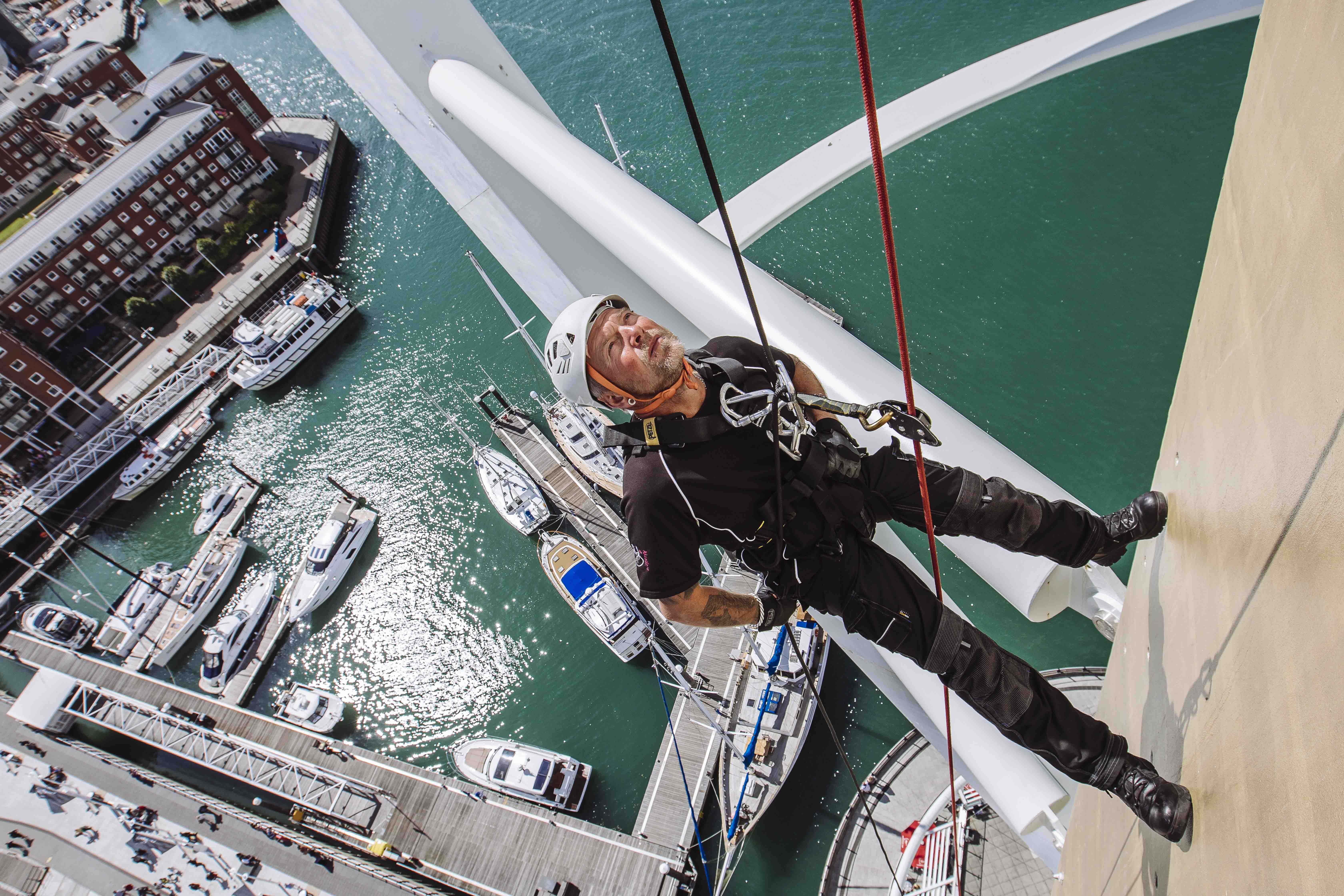 Spinnaker Challenge Alabare Homeless Charity Tower Portsmouth Event abseil