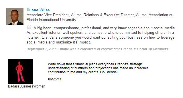 Brenda Leguisamo Testimonial from Duane Wiles and Badass Business Women