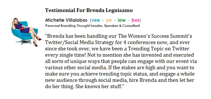 Brenda Leguisamo Testimonial from Michelle Villalobos
