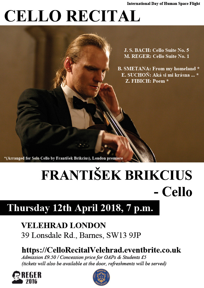 Cello Recital Velehrad London - Frantisek Brikcius