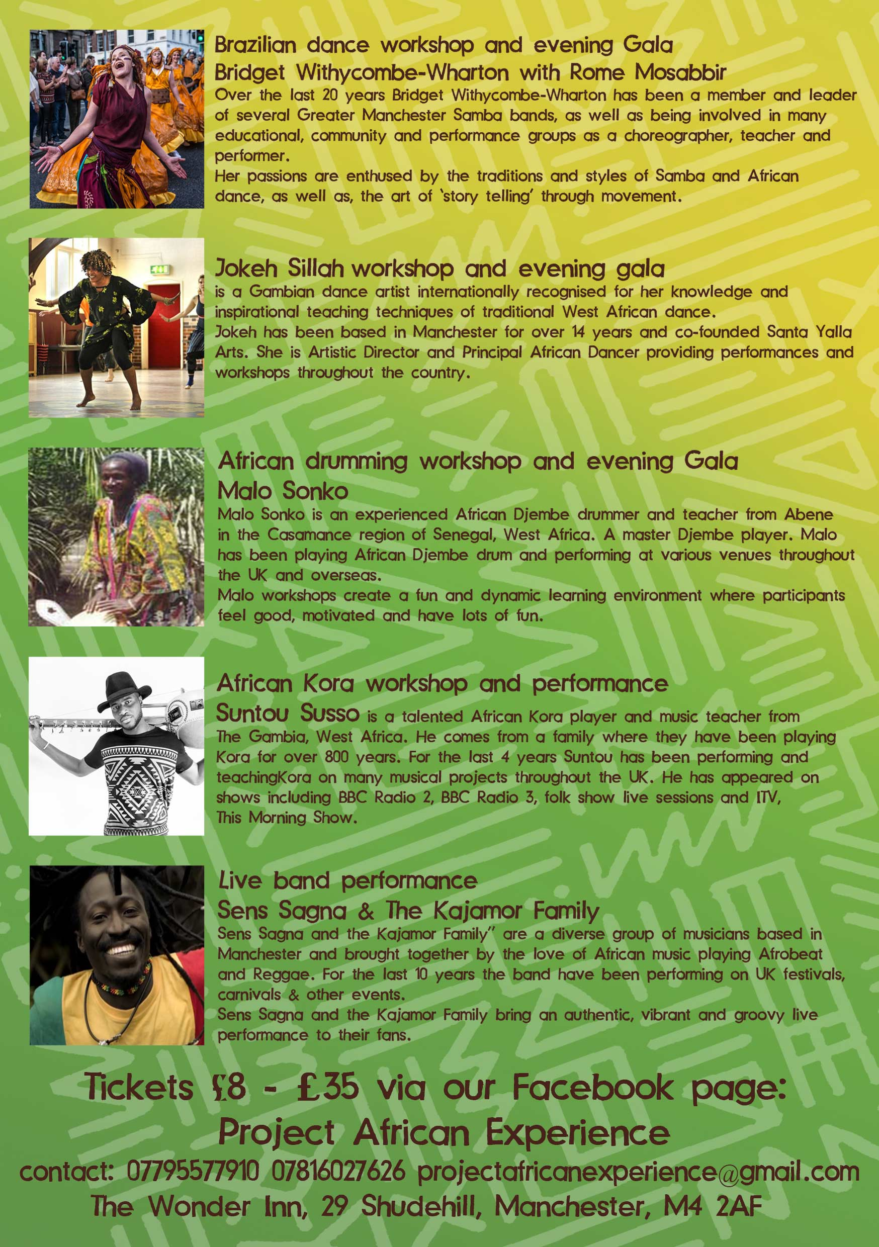 Project African Experience artists and DJs