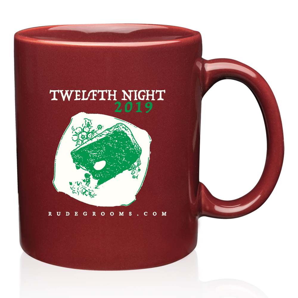 Front of the commemorative 2019 Twelfth Night Mug