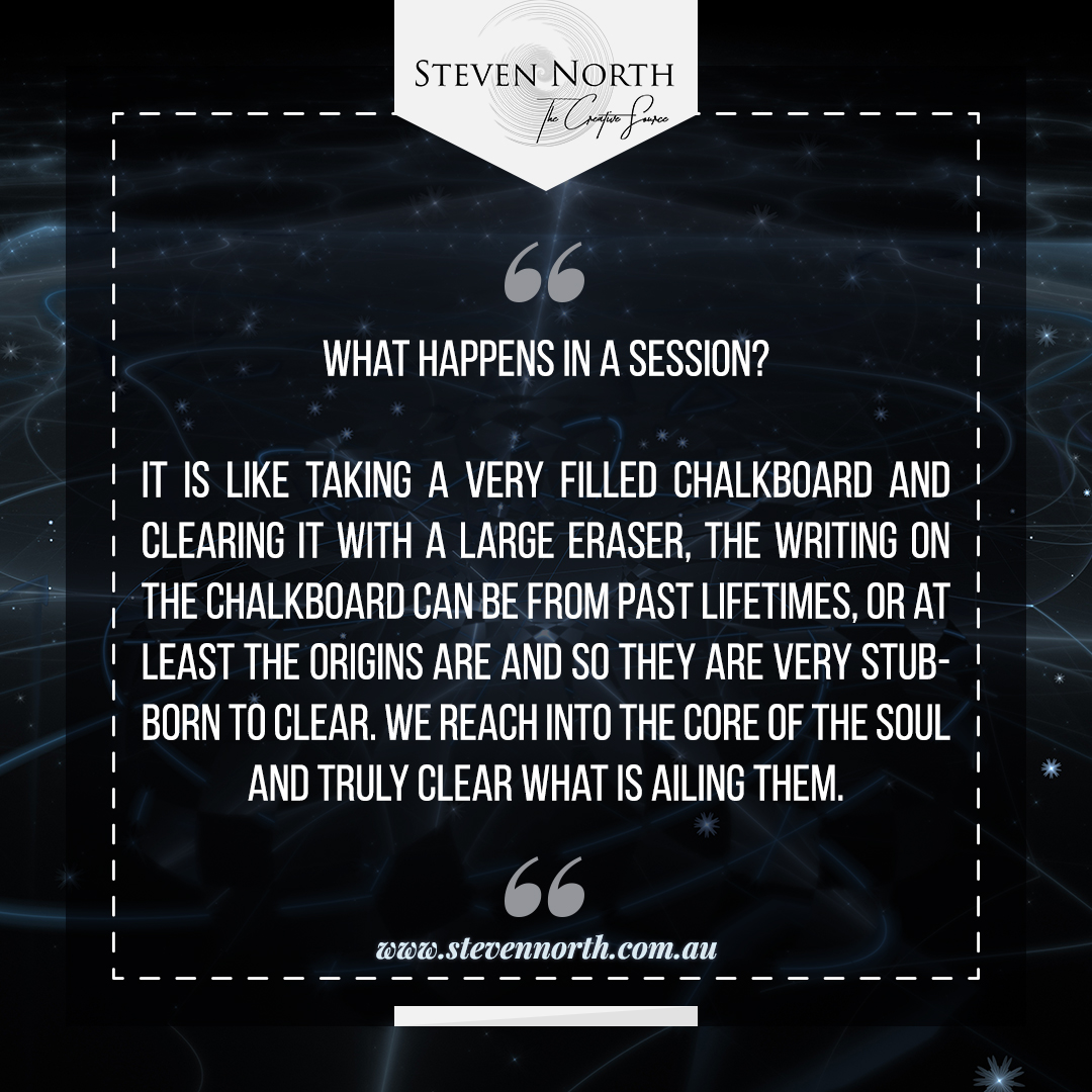 What happens in a session with Steven North?