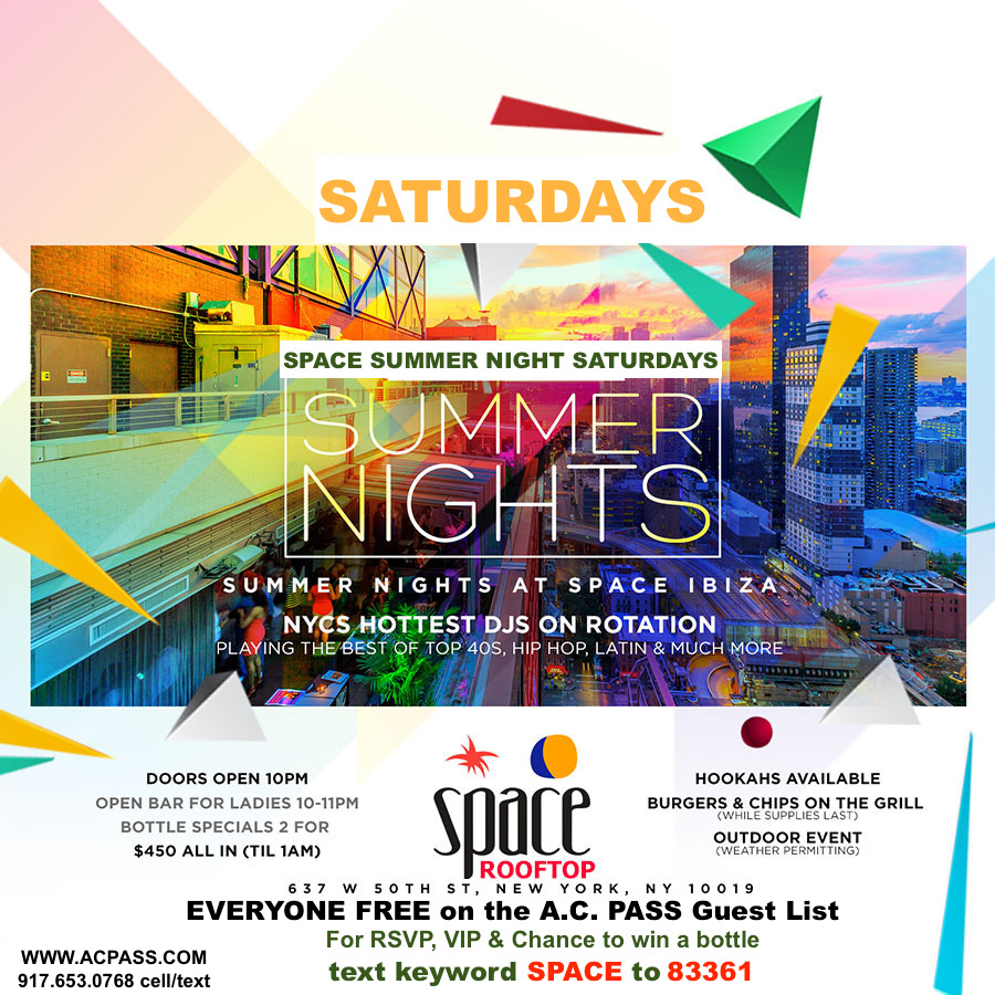 SPACE Summer Night Sat's. Hip-hop Rooftop Party. No Cover on A.C. ...