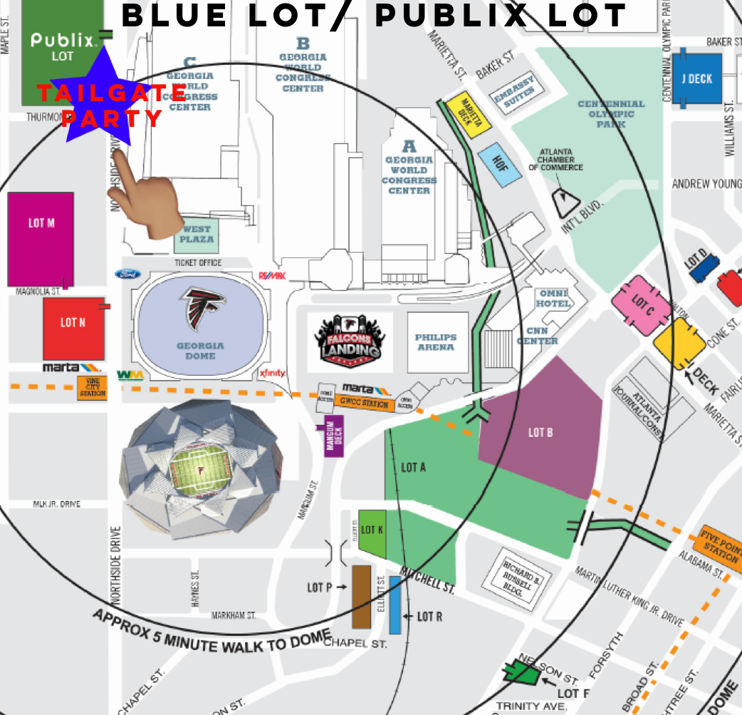Atlanta Falcons Vs Dallas Cowboys Tailgate Party Tickets Sun Nov - Atlanta falcon us fan map
