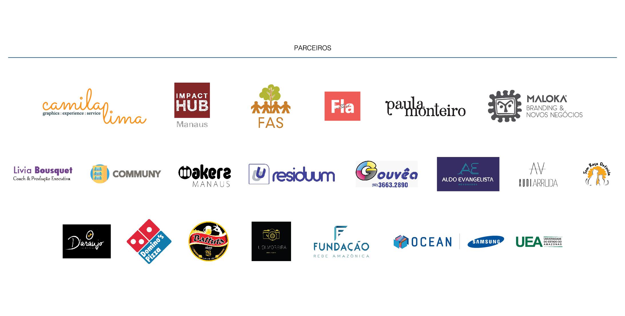 Reconhecimento das marcas dos parceiros do evento