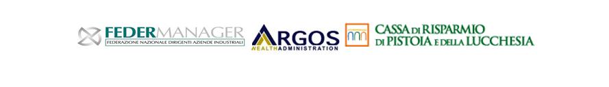 Loghi promotori: Federmanager, Argos, Cassa di Risparmio