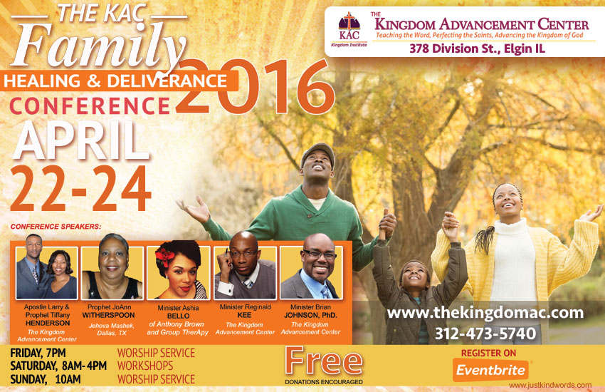 The KAC Family Healing and Deliverance Conference 2016