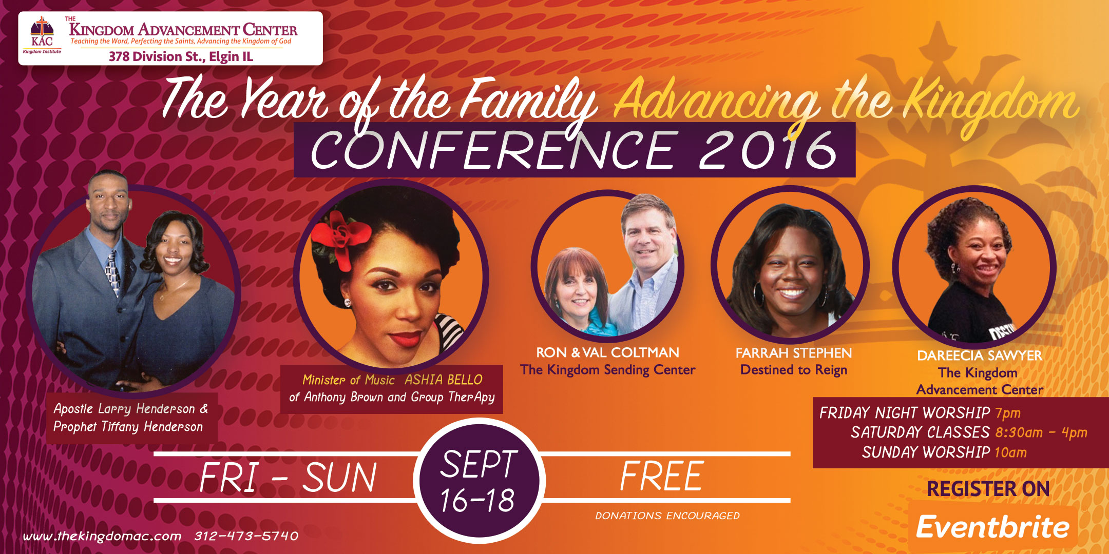 The Year of the Family Advancing the Kingdom Conference 2016