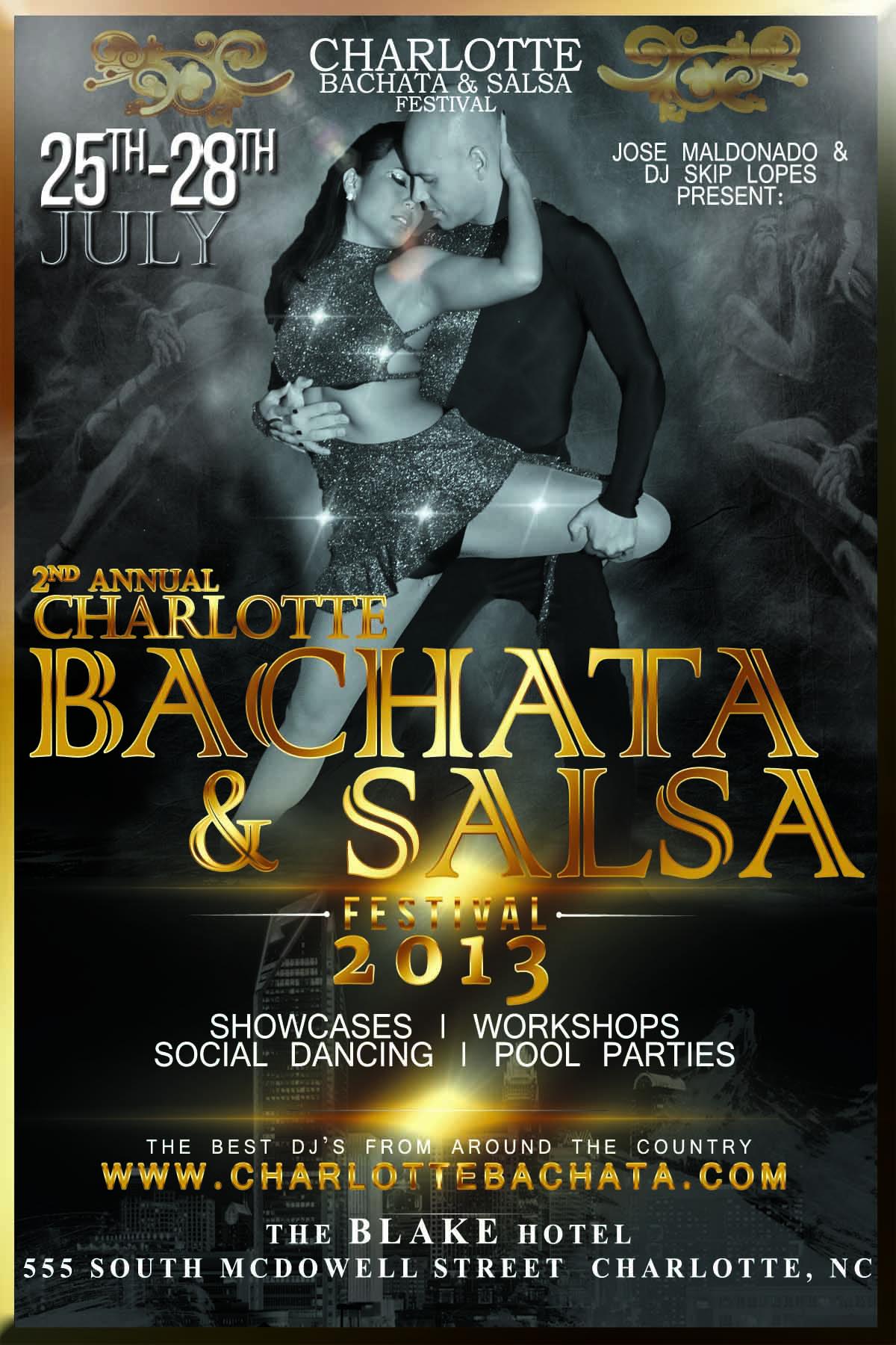 Charlotte Bachata & Salsa Festival Promo Flyer