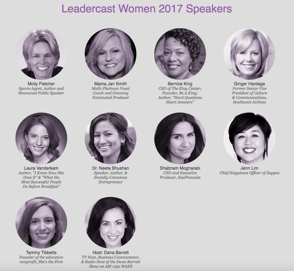 Leadercast Women Speakers