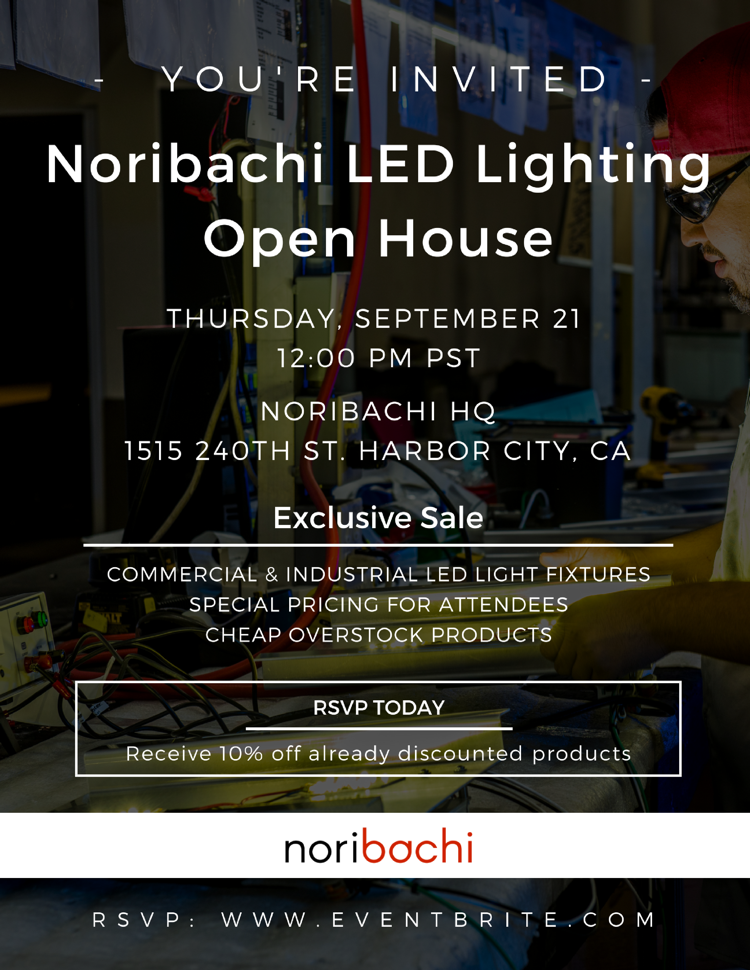Sept 21 Noribachi Open House Event for Lighting Distributors in Los Angeles