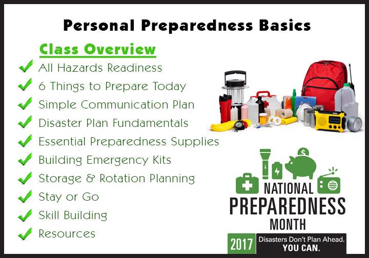 Preparedness Class Overview