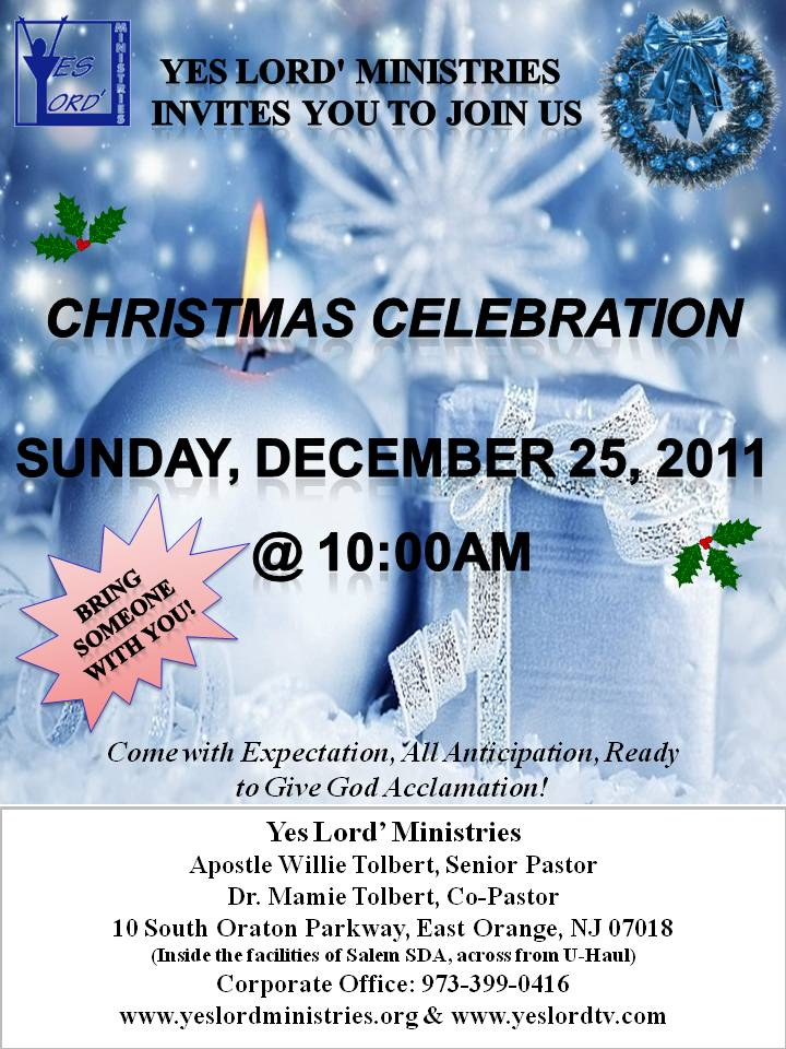 Christmas Service Flyer