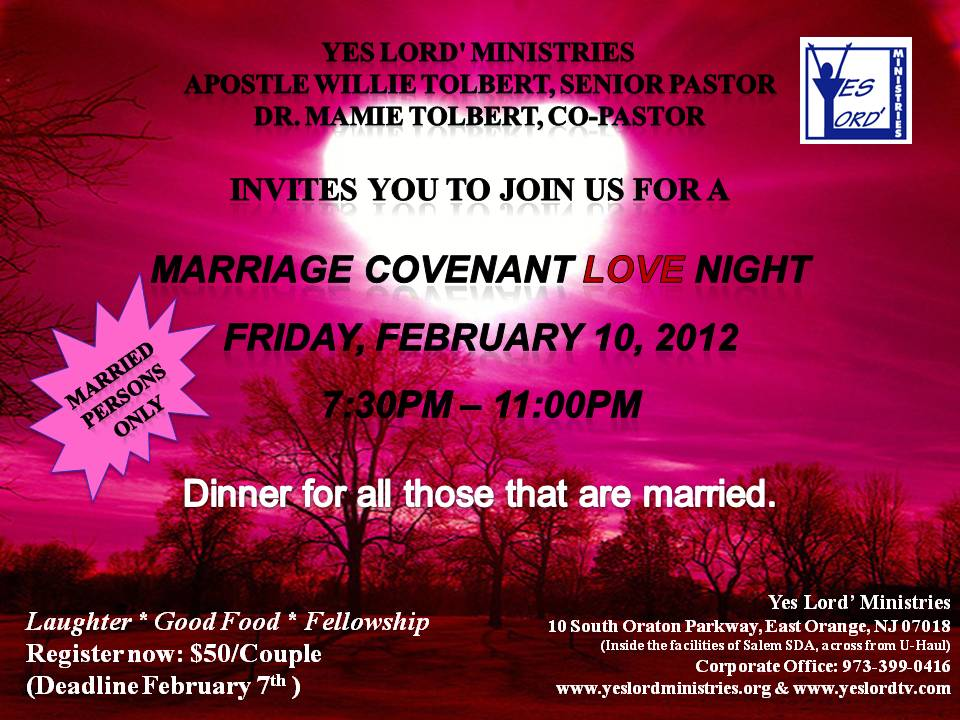 Marriage Covenant Love Night