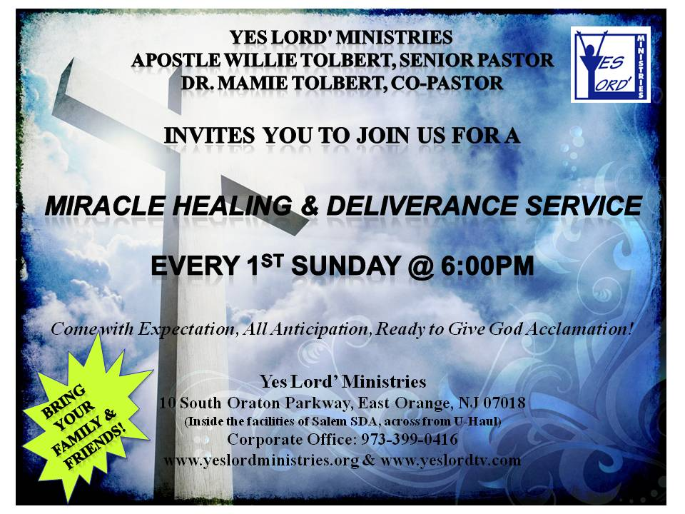 Miracle Healing Deliverance Service Flyer