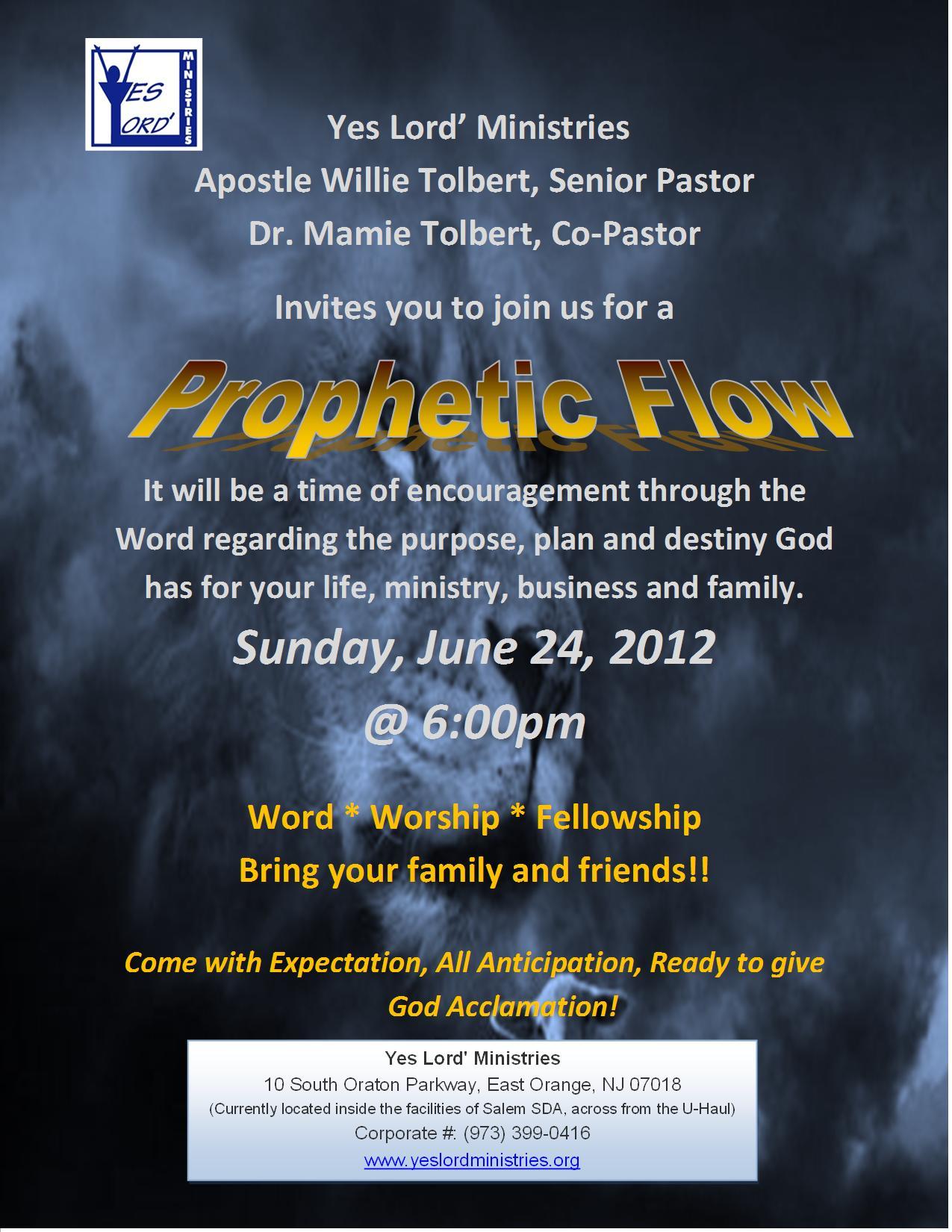 Prophetic Flow Flyer