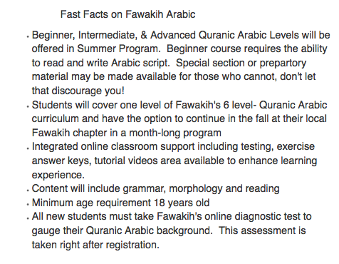 Arabic fast facts