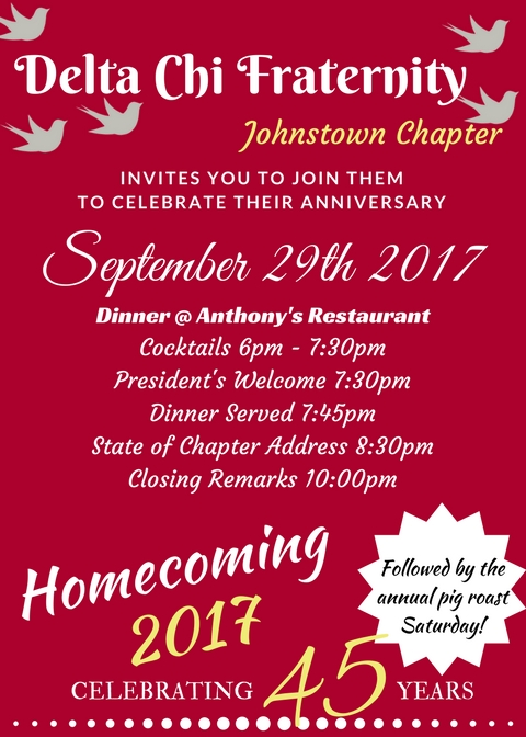Johnstown Delta Chi 45th Anniversary
