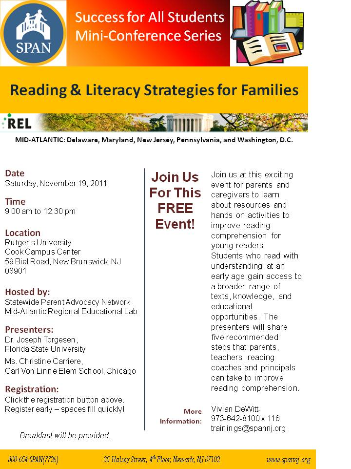 Reading and Literacy Strategies for Families