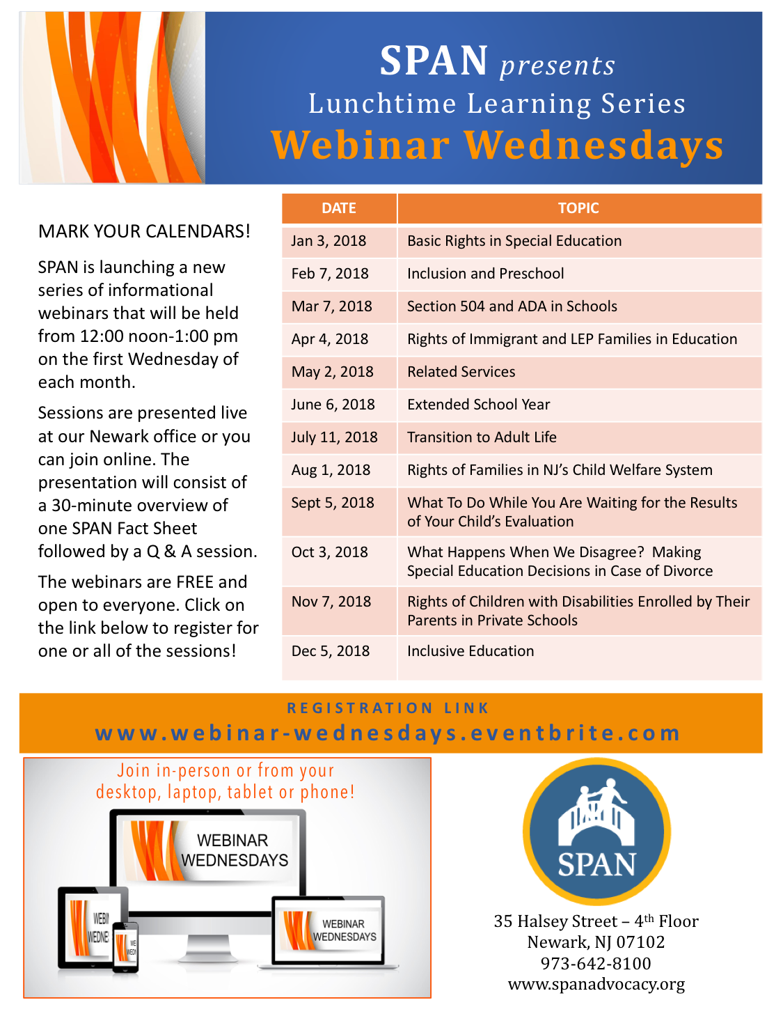Webinar Wednesdays flyer