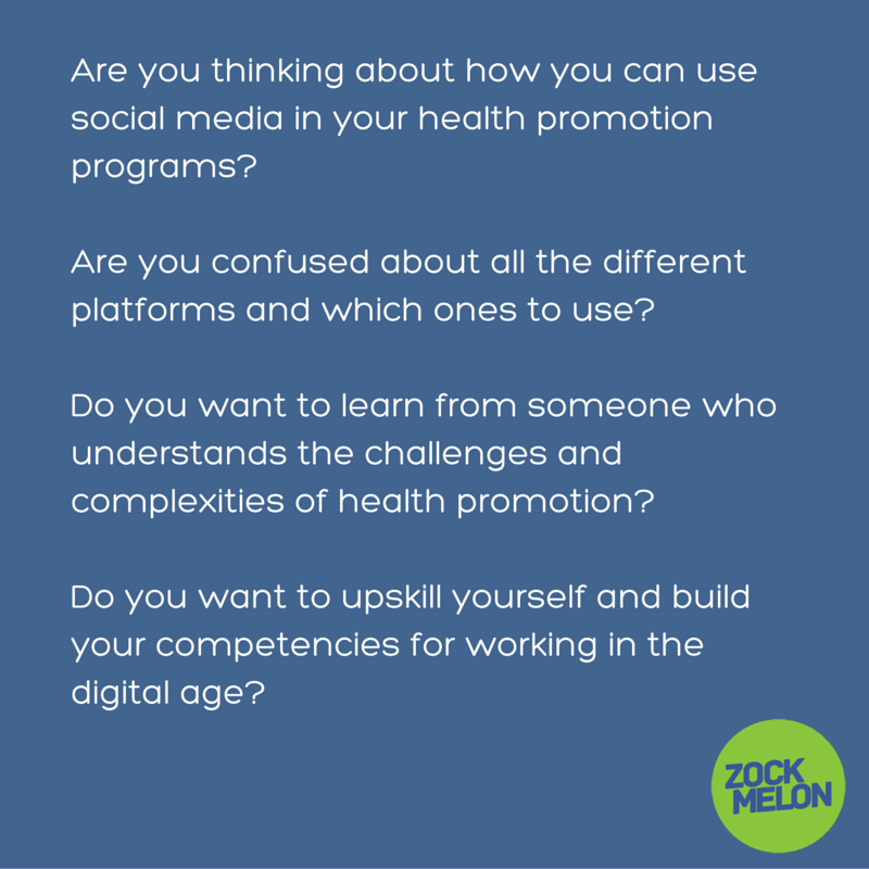 Are you thinking about how you can use social media in your health promotion programs?