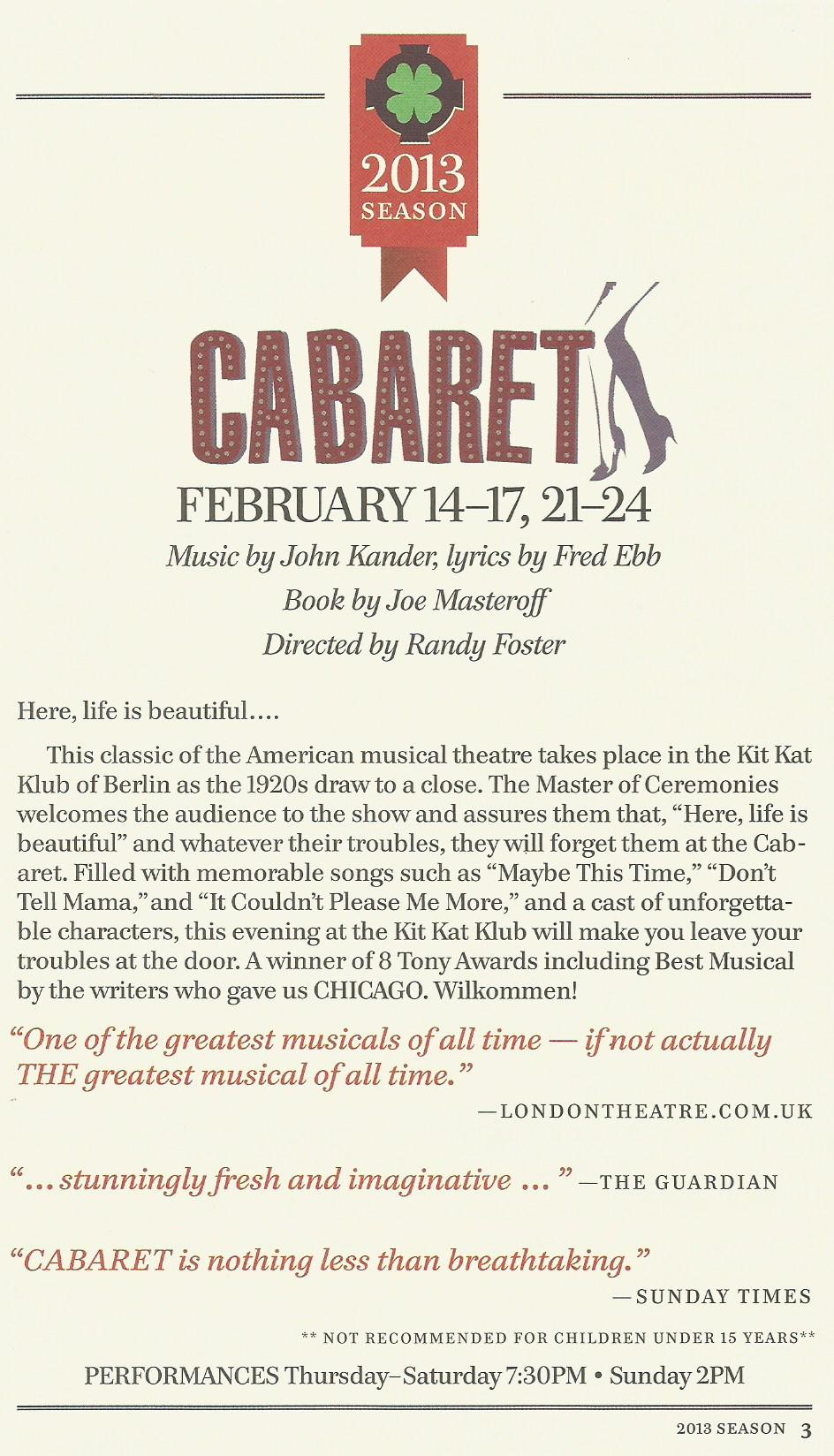 Cabaret Feb 2013