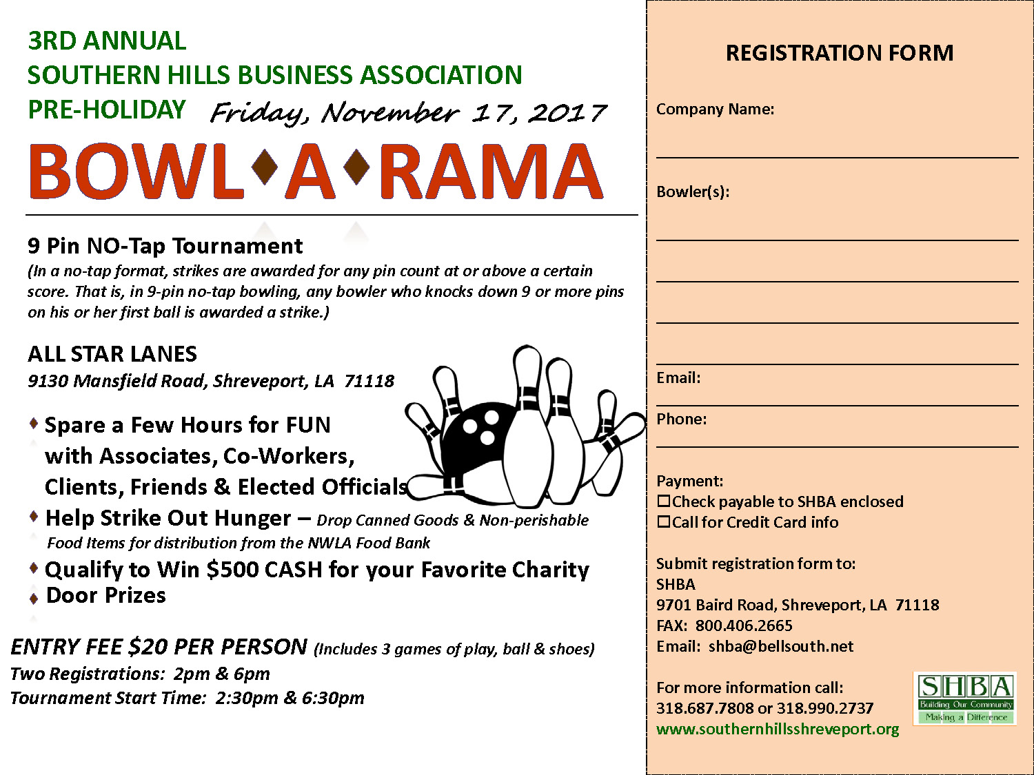 Bowling Registration Form