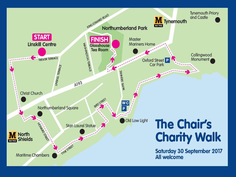 Charity Walk Map